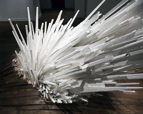 Explosively Protruding Sculptures