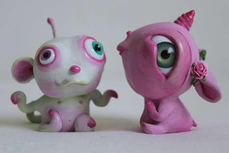 Infantile Monster Sculptures