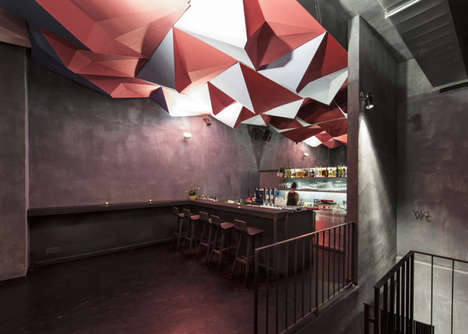 Geometric Ceiling Installations