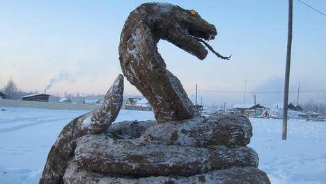 Feces Snake Sculptures