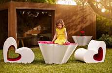 Feminine Kids Furniture - The Vondom Agatha Collection by Agatha Ruiz de la Prada is Heartfelt