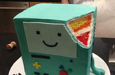 Multi-Colored Cartoon Desserts - The Adventure Time BMO Cake Pays Tribute to the Whimsical Show