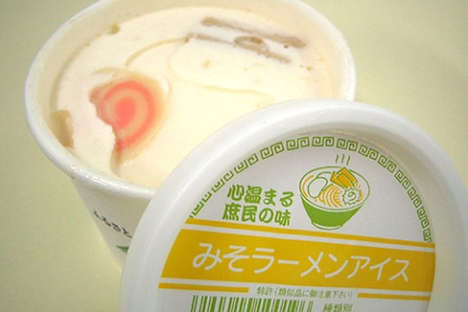 Savory Salt-Infused Frozen Treats - Challenge Your Taste Palette With the Miso Ramen Ice Cream