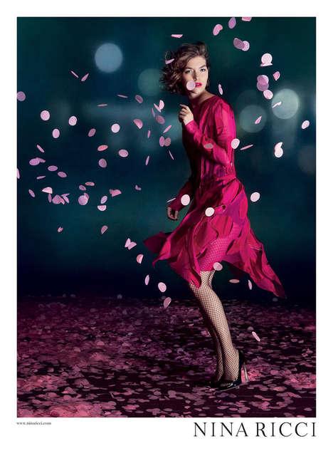 Faux Petal Fashion Ads