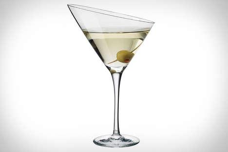 Slanted Cocktail Glassware