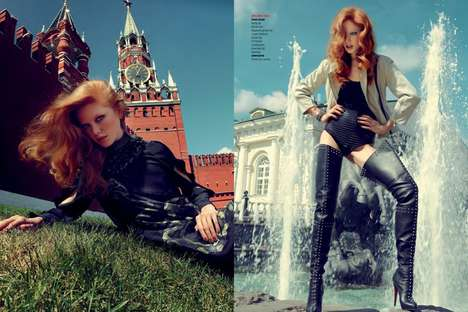 This Fashion Editorial by Filippo Del Vita in Moscow is Radiant