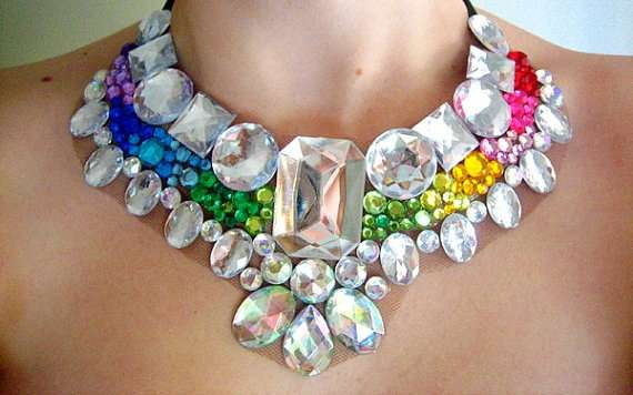 Rainbow Crystal Chokers