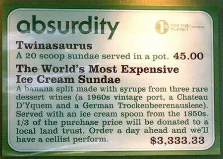 $3,333.33 Ice Cream Sundaes