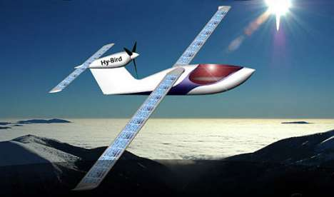 Round-the-World Green Flights - Solar-Cell Hy-Bird