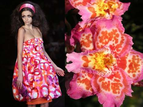 Exotic Flower Fashion - Christian Dior-Chids