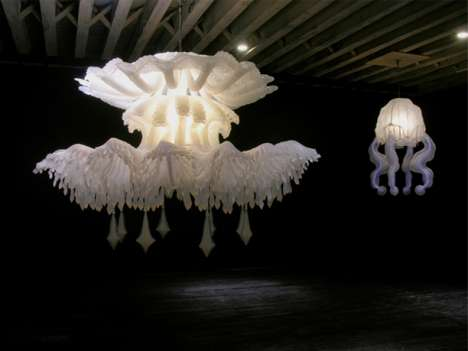 Jellyfish Chandeliers 2 - Timothy Horn Lighting