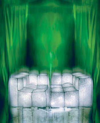Glowing Ice Cube Furniture - Moss LED Sofa