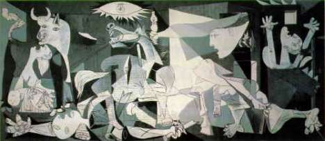 Digitalized Guernica Painting