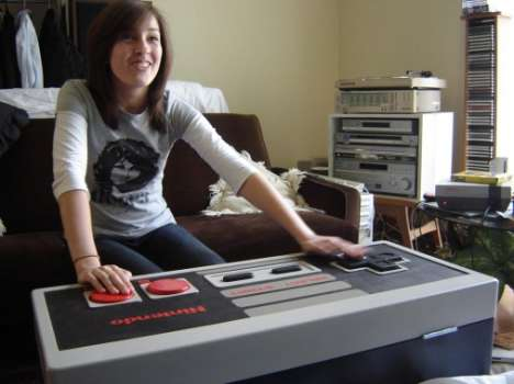 Game Controller Furniture - Coffee Table / Storage Box / NES Controller Works!