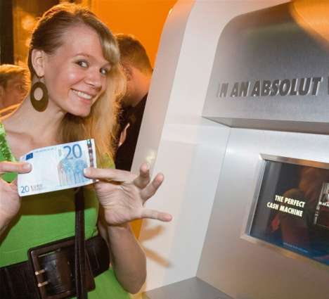 Free Money as Advertising - Absolut Cash Machine