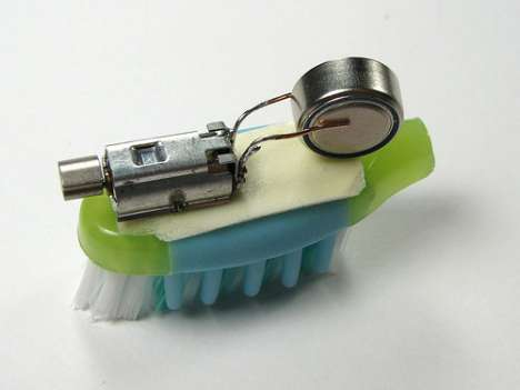 Recycled Electric Toothbrush Gadgets - Bristlebot/Brushbot