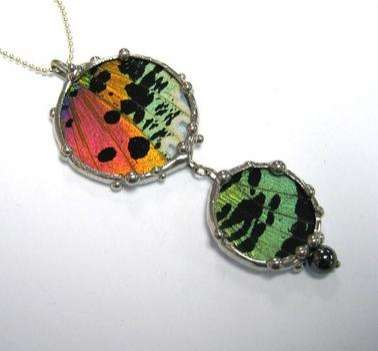 Art from Insects 2 - Butterfly Wing Jewelry