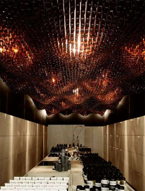Recycled Bottle Ceilings