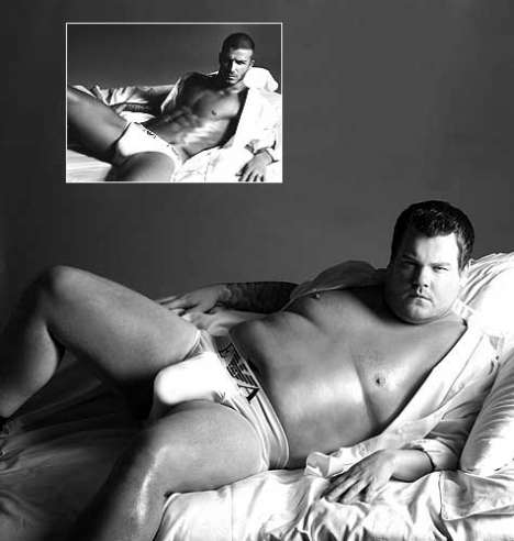 Fashion ParAdies - James Corden As David Beckham For Armani