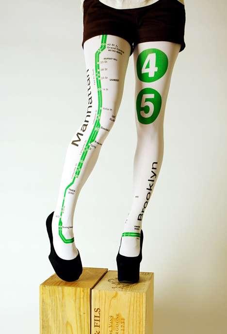 Subway Patterned Legwear