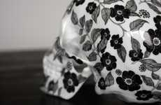 Blooming Cranium Sculptures - K.olin tribu Collaborates with Artist NooN to Create a Ceramic Skull