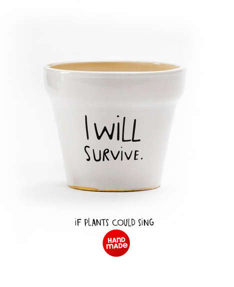 Slogan-Encouraging Planters