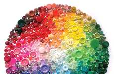 Rainbow Button Art - Karen Hurley Art Works Repurpose Everyday Objects