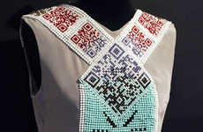 QR Code-Patterned Fashion - Thorunn Arnadottir Integrates Technology with Fashion and Music