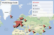 Map-Based Design Guides - Dazeen's World Design Guide Maps Out Design Events in the World