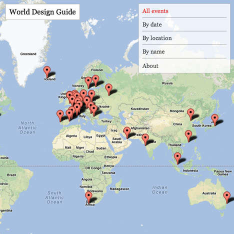 Dazeen's World Design Guide Maps Out Design Events in the World