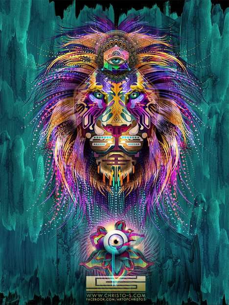 Chris Saunder's Collection of Intricate Psychedelic Digital Art Pieces