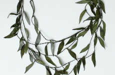 Layered Foliage Jewelry - Leaves Look Elegant Around the Neck with the Willow Branch Necklace
