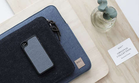 Upcycled Denim Gadget Covers - Ikku Converts Denim and Canvas into Electronic Sleeves