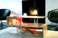 Dollhouse Coffee Tables - The QUBIS HAUS by Amy Whitworth is Fit for Adults and Children