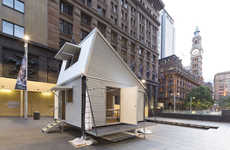 Resourceful Corrugated Cabins - Shelter/Pavilion is an Efficient Emergency Abode of Material Scraps