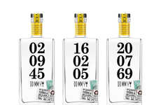 Dated Drink Branding - DD/MM/YY Tequila Packaging Seals in the Beverage for Later Enjoyment