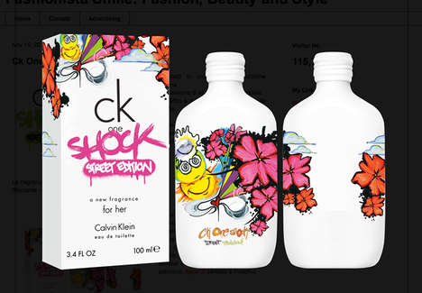 Graffiti Fragrance Branding - Calvin Klein One Shock Street Edition Bottles are Youthfully Artistic