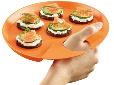 Thumb Hole Serving Trays