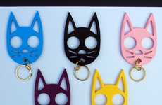 Adorable Attacking Keychains - The Kitty Keychain Self-Defense Device is Unsuspectingly Dangerous