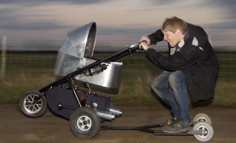 Motorized Baby Carriages - The Mad Max Stroller Can Reach Up to 53 Miles Per Hour