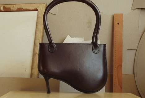 High-Heeled Handbags - The Widow Leather Bag Combines Two Female Fetishes into One Fab Accessory