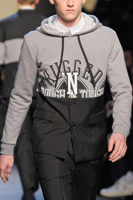 Sweatshirt-Pantsuit Hybrid Menswear
