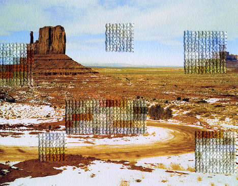 Patchwork Pixelated Imagery