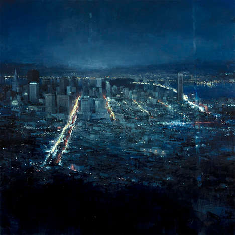 Dreary Cityscape Paintings