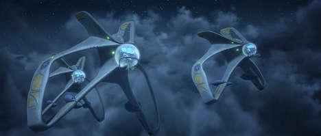 Sc-Fi Dinosaur Ships