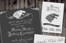 Fantasy Wedding Invitations - The Game of Thrones Wedding Invitations Showcase the Popular Series
