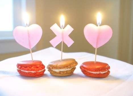 DIY Valentine Dessert Candles