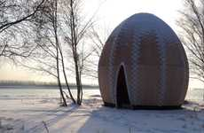 Egg-Shaped Tipi Refuges - The Fire Shelter Pays Homage to History, Nature and the Specific Site