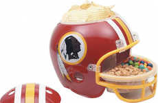 Football Equipment Snack Bowls - The NFL Snack Helmet Cleverly Holds Your Favorite Treats