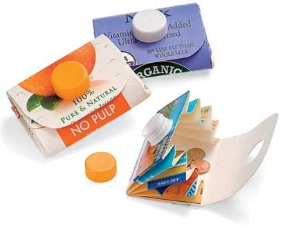 Recycled Juice Pack Purses